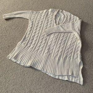 Free People oversized cotton sweater